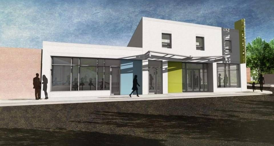 From East Vance Street, a rendering of the Fuquay-Varina Arts Center approved by the town's Board of Commissioners at its Oct. 18 meeting.