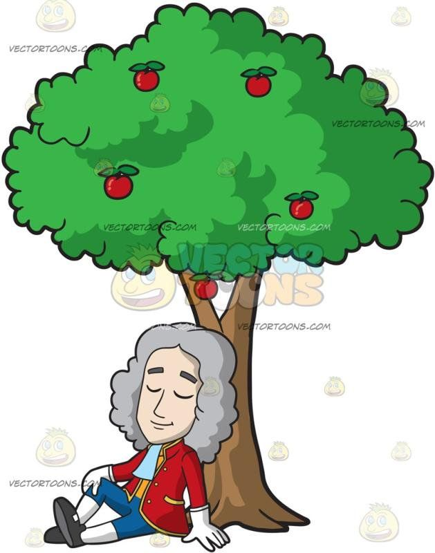 Isaac Newton Sitting Under An Apple Tree Con Imagenes Dibujos