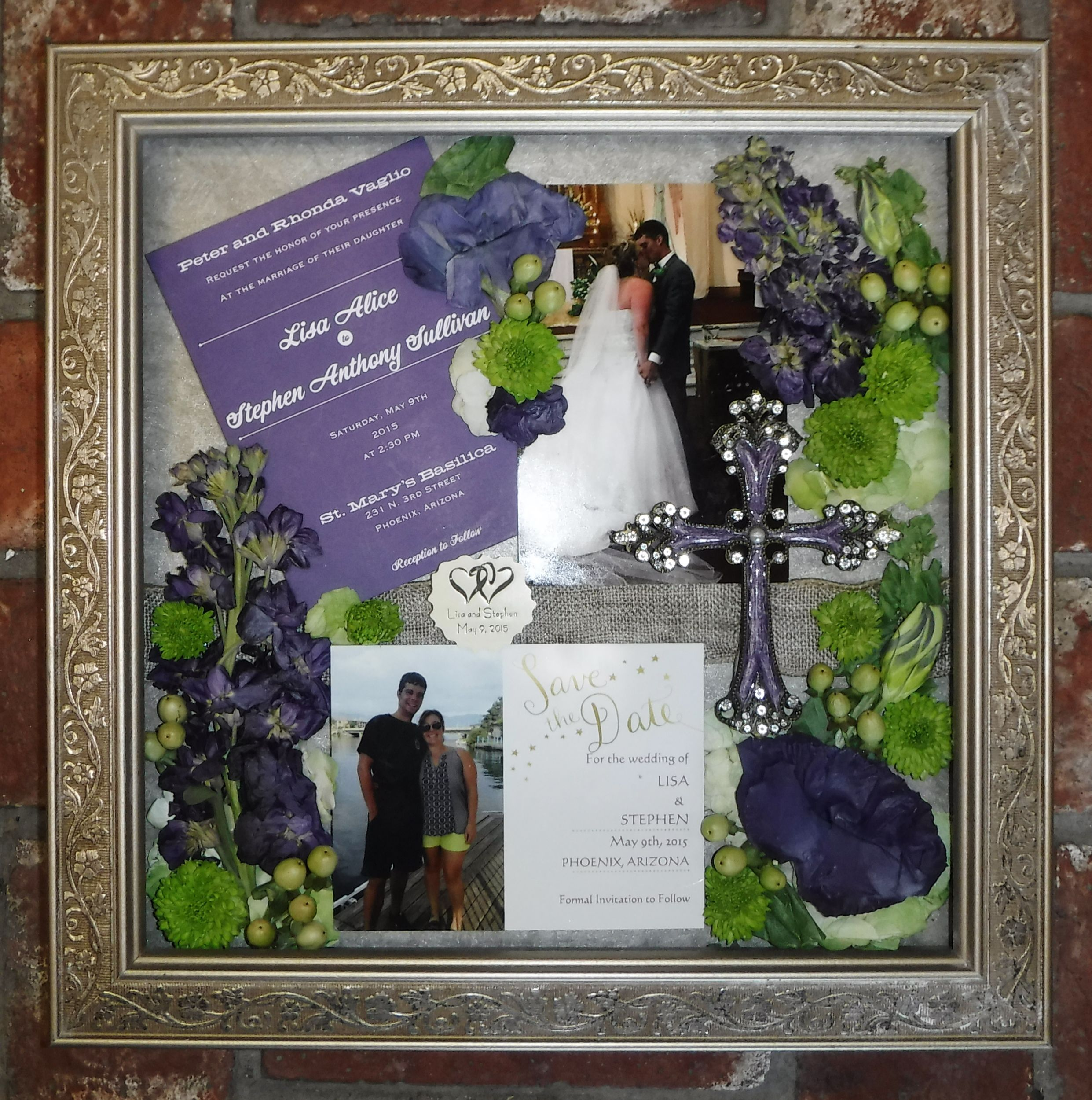 Pressed Wedding Flowers: Pressed Wedding Flowers Framed By Floral Keepsakes Www
