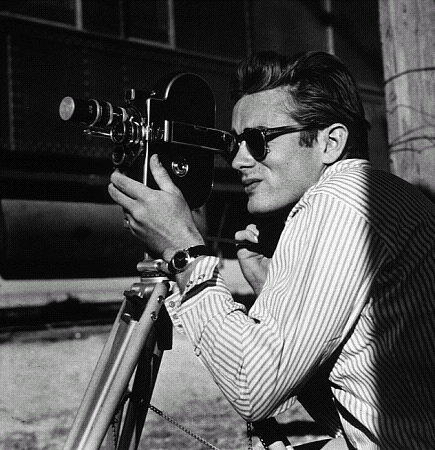 James Dean and camera