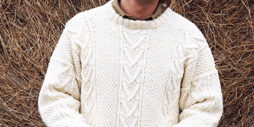 Make It For A Man: Aran Jumper Knitting Pattern   Aran jumper ...