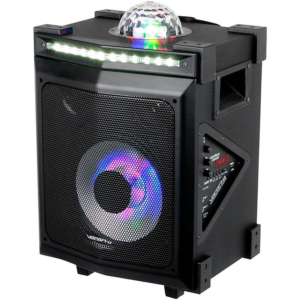 LightShow Magic Battery-Powered Karaoke System with LED Lights and Bluetooth #karaokesystem