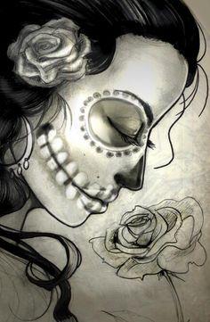 Dia De Los Muertos Drawings Google Search Sugar Skulls 333