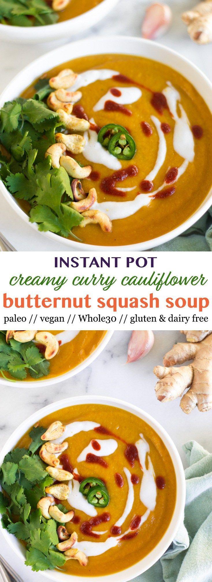 Curried Butternut Squash Soup Recipe Curried butternut
