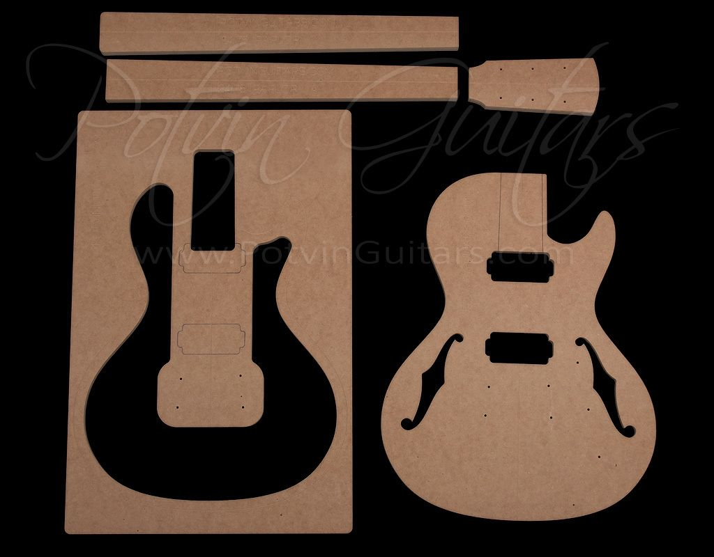 Parlor Electric Singlecut Template Set Guitar Building Templates Electricity