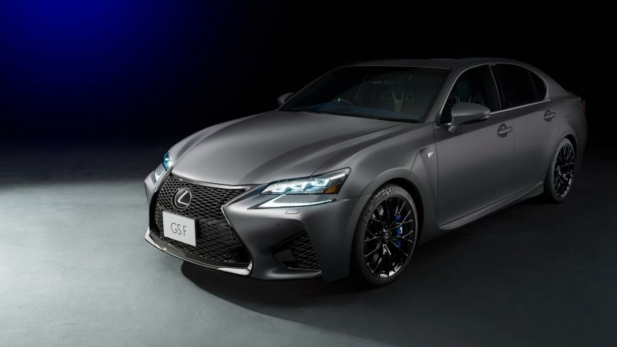 Graphite Matte Lexus Emerging From The Semi Darkness The Front