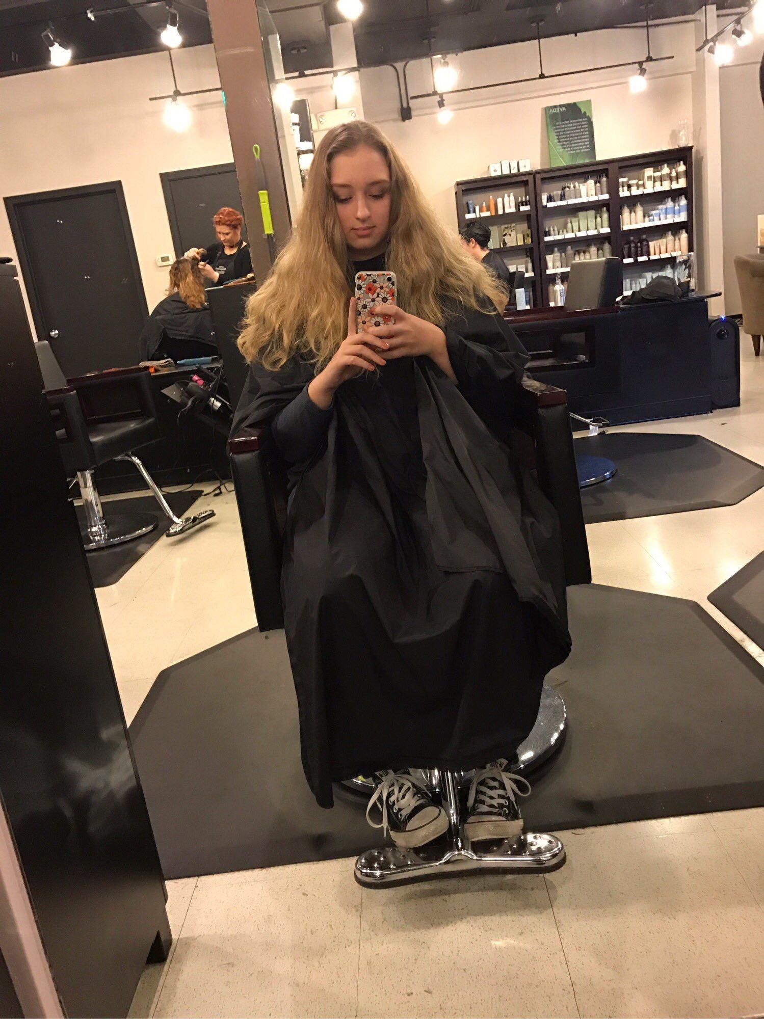 Hair cape fetish
