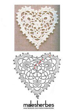 Différents coeurs au crochet! Partie 3! (Avec des boucles d'oreilles en forme de cœur que j'ai faites)   – Crochet Jewelry