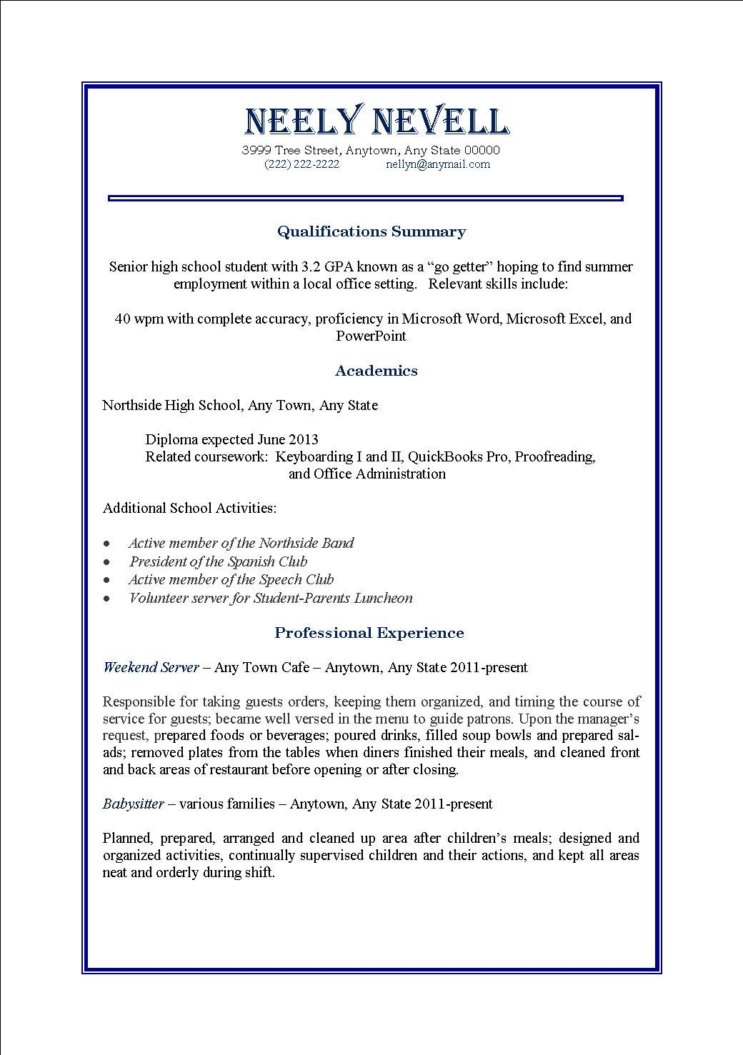 Superior Resume For Part Time Job Template Doc How Write Resumes Jobs
