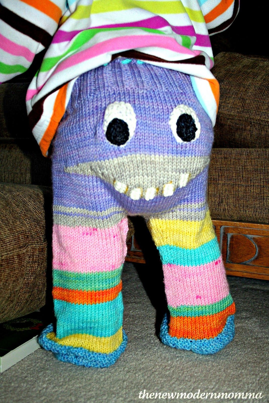 Todays outfit channelled a young punky brewster if you grew up knitted monster pants pattern is super cute bankloansurffo Image collections