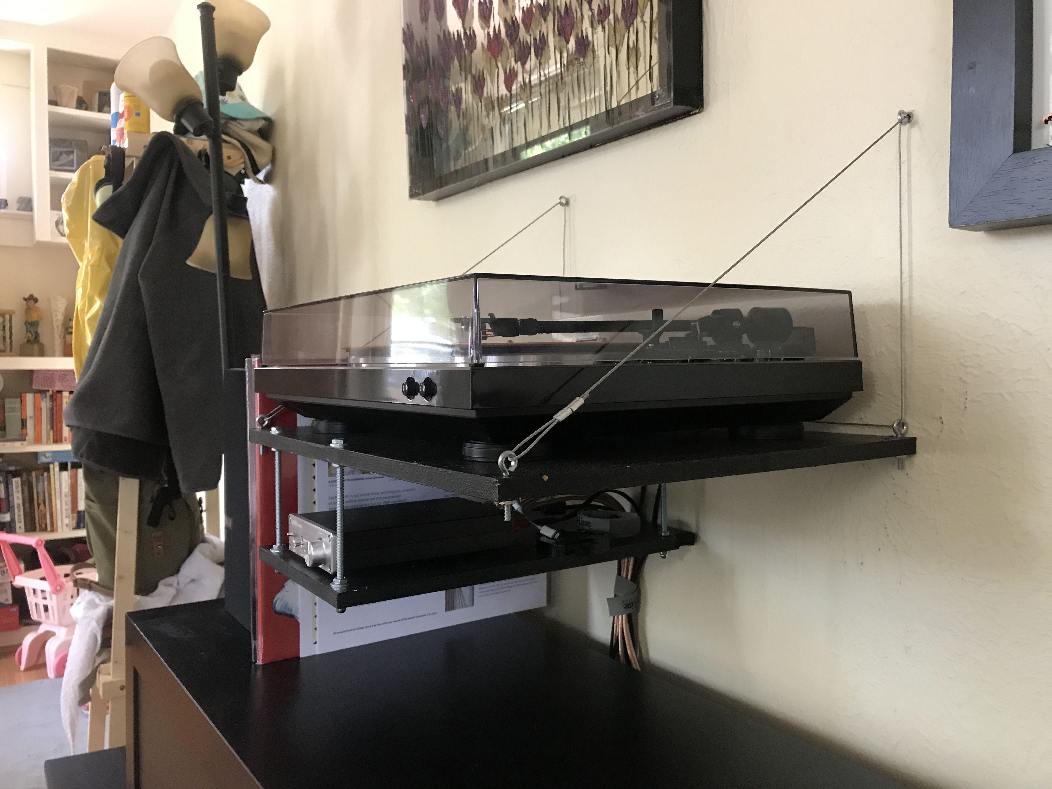 Diy Record Player Wall Shelf Vinyl Record Storage Vinyl Storage