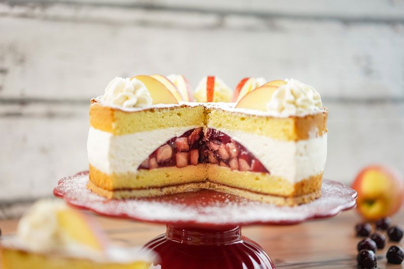 Sallys Rezepte Apfel Kirsch Torte Interspar 20 In 2020 Kirschen Lecker Torten