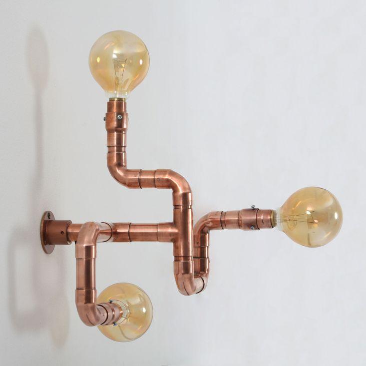 Un luminaire original c est possible gr¢ce aux tubes de cuivre