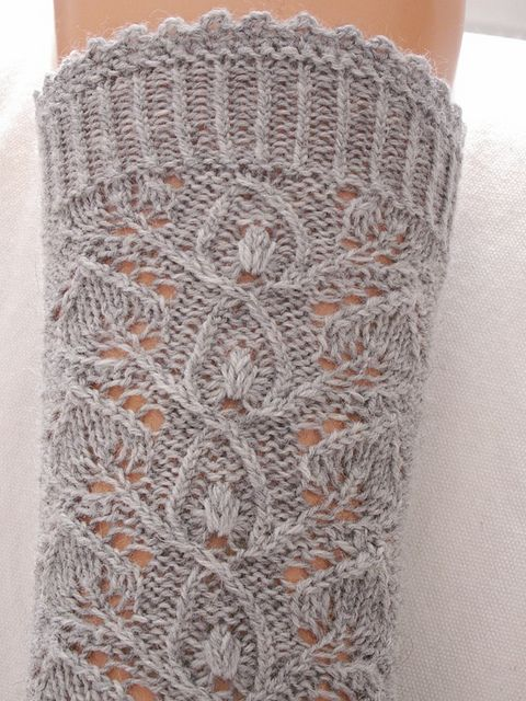 Knitting Socks Using Circular Needles : Leaflace pattern by stephanie van der linden lace socks