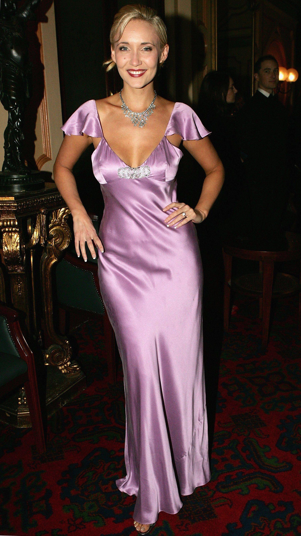 Very pretty, light purple, satin, long nightgown.   Milf satin ...