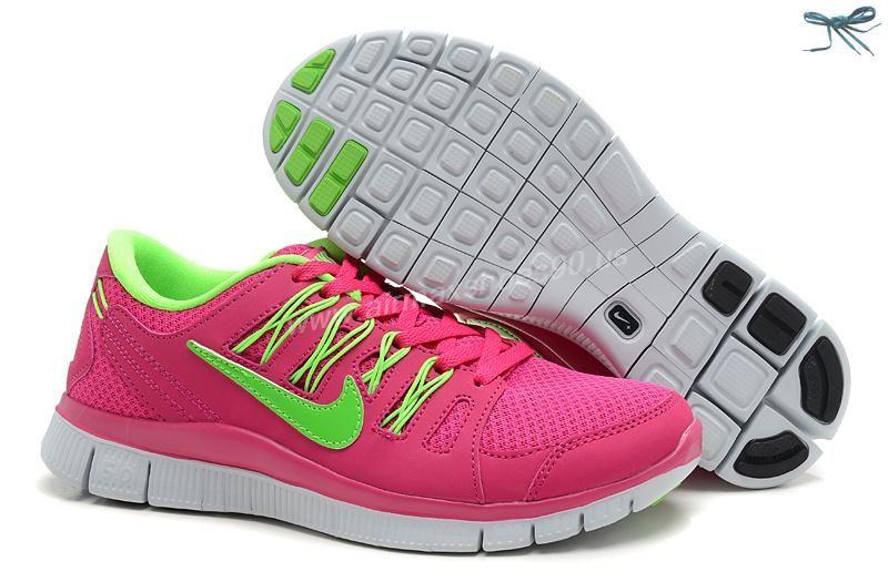 14270a9c1e722 580531-601 Womens Nike Free Run 4 Running Fireberry Electric Green Pro  Platinum Electric Green
