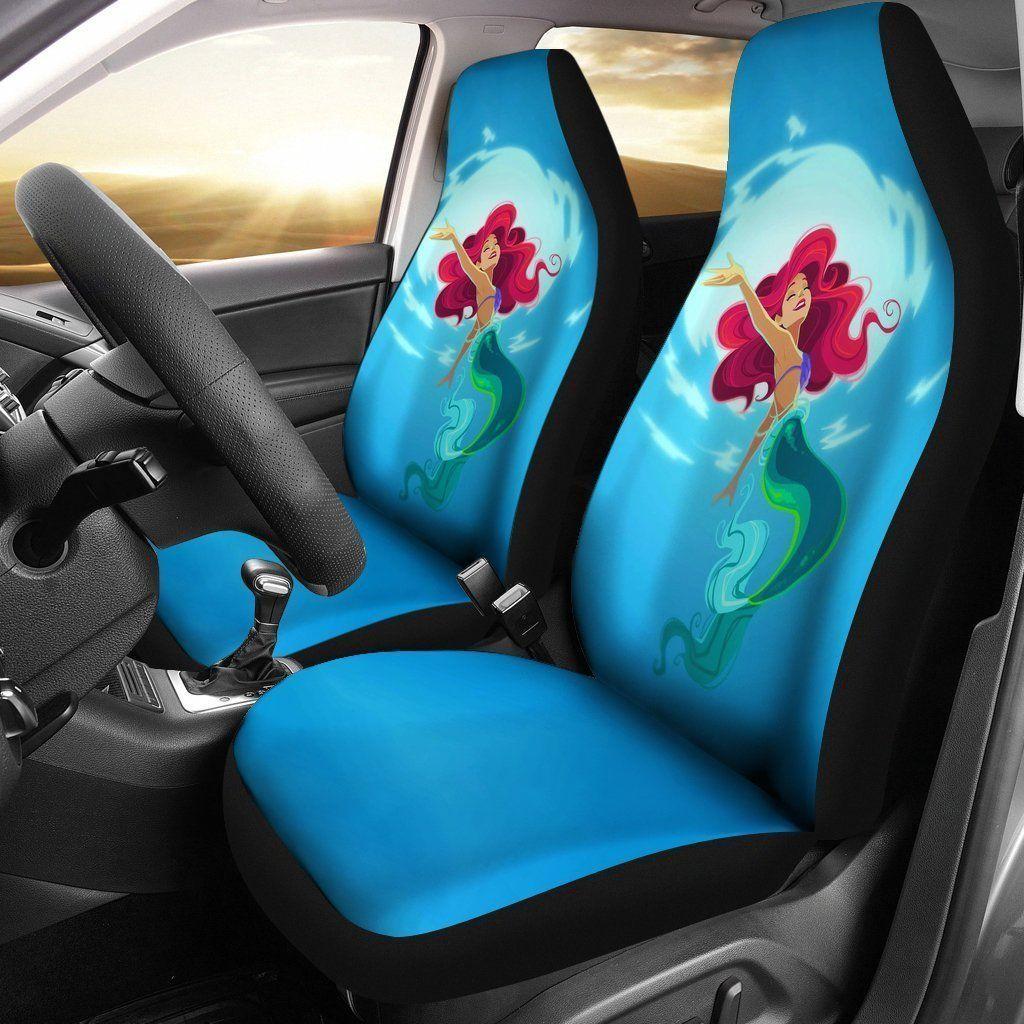 Housses De Siege D Auto Disney The Little Mermaid Ariel Cartoon T0105 Ensemble De 2 Toutes Nos Car Seats Carseat Cover Car Cartoon