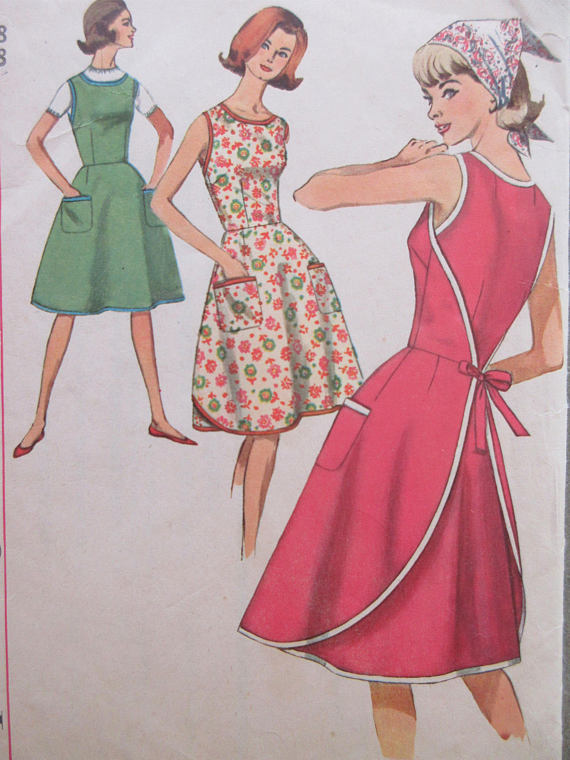 Vintage Simplicity 5449 Sewing Pattern 1960s Dress