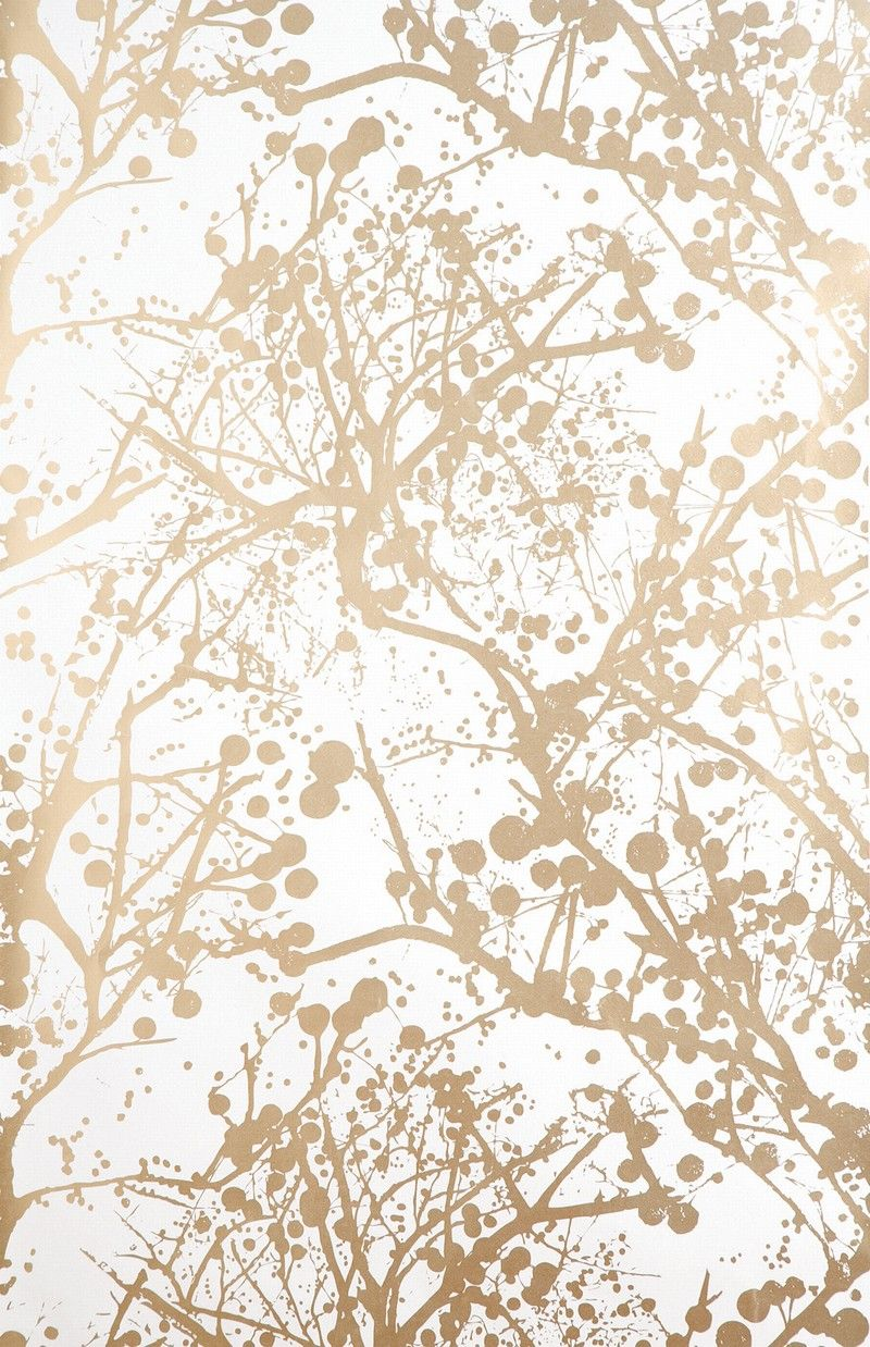 white and gold wallpaper Ferm Living Ribbed   Wilderness in Gold and White Wall Smart  white and gold wallpaper