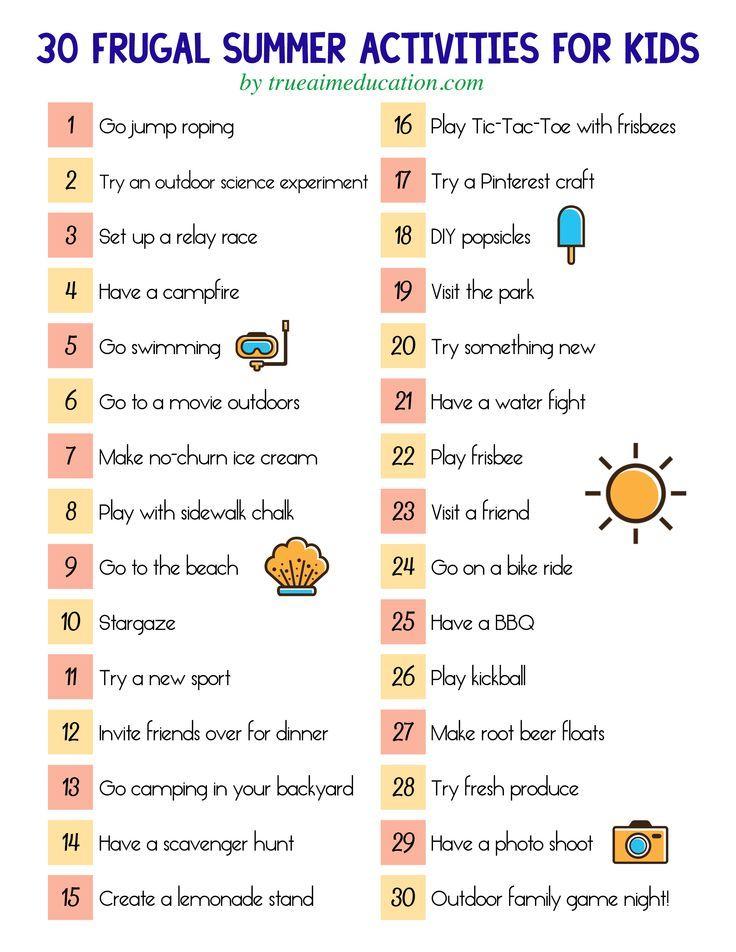 Summer Bucket List - 50 Fun Activities for Kids - CincyShopper