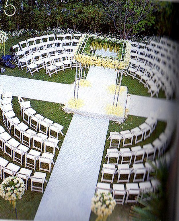 Ceremony Seating Reception: Really Cool Seating Idea!