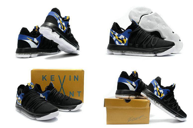 251d812414b5 2018 的 Nike KD 10 X Blinders Black White Multi Color