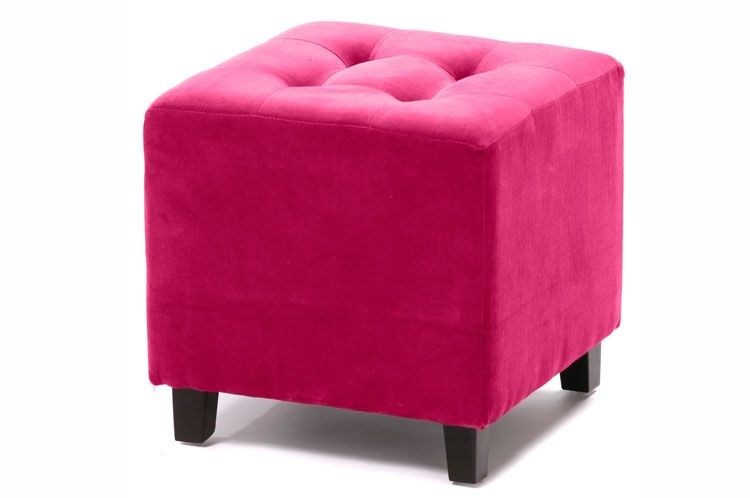 pouf velours capitonn fushia pour d co tendance et design autres couleurs choco gris souris. Black Bedroom Furniture Sets. Home Design Ideas