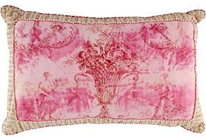 French 19th-C. Toile Pillow I