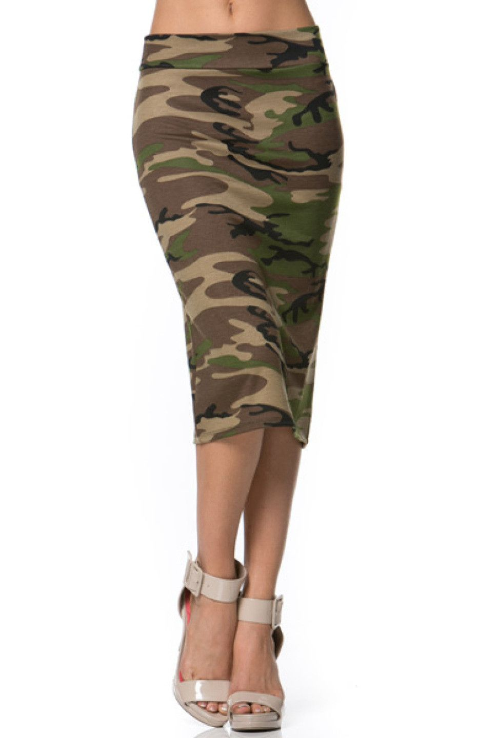 5f79d7a07 Camo Army Print Pencil Skirt - BodiLove | 30% Off First Order - 1 ...