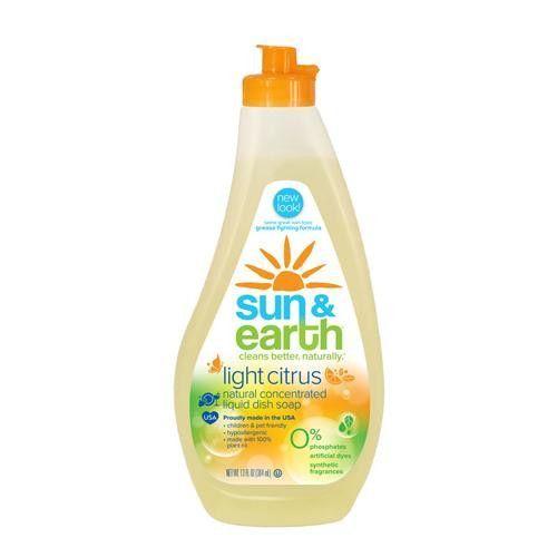 Sun And Earth Hyoallergenic Ultra Dishwashing Liquid 13 Fl Oz