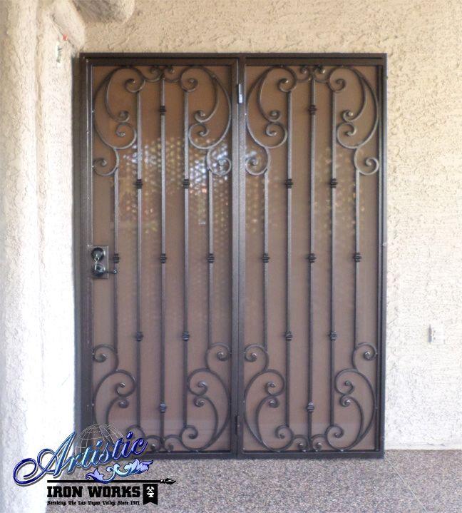 Corsica Wrought Iron Security Screen Patio Doors Model
