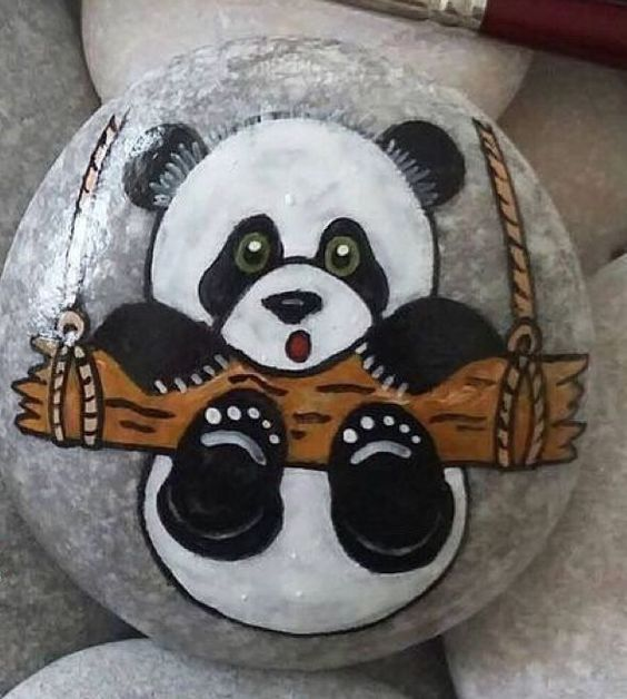 Photo of Beautiful decorations with painted stones