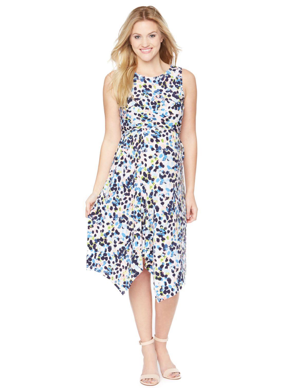 eb1552545e0d4 Motherhood Maternity Sleeveless Hanky Hem Maternity Dress | Spring + ...