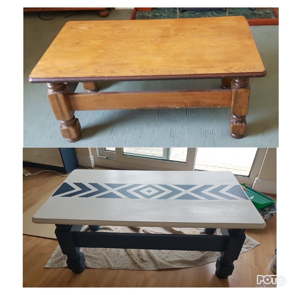 Upcycled Furniture Painted Coffee Table Aztec Print Painted Coffee Tables Coffee Table Upcycle Coffee Table [ 1024 x 1024 Pixel ]