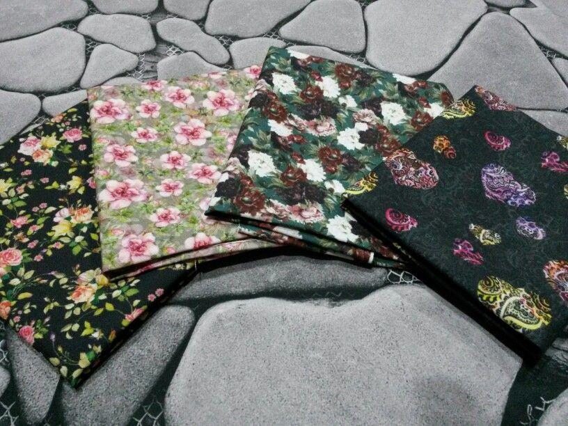 Paket kain kanvas linen Rp.170,000 dapat 4 kain @45x70cm. #kanvas #printkanvas #fatquater #paketkain #printkain #printtekstil