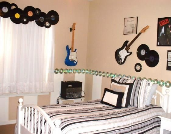 14 Marvelous Things Shaped Like A Guitar Music Themed Bedroom Music Inspired Bedroom Bedroom Themes