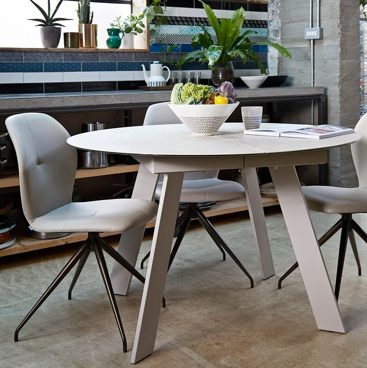 Studio Round Extending Table 120cm Ceramic Ceramic Dining