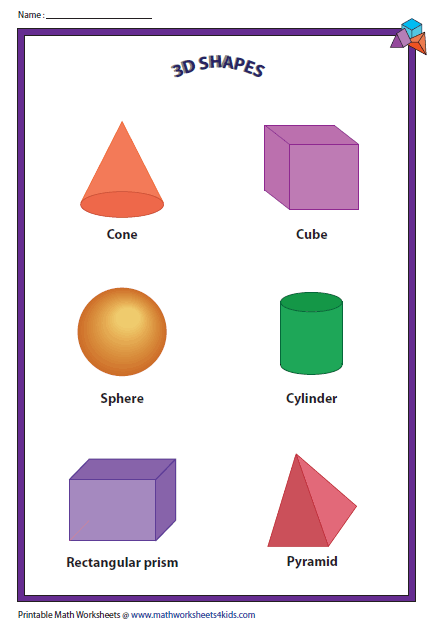 3d Shapes Charts Teaching Shapes Shapes Worksheets 3d Shapes Worksheets