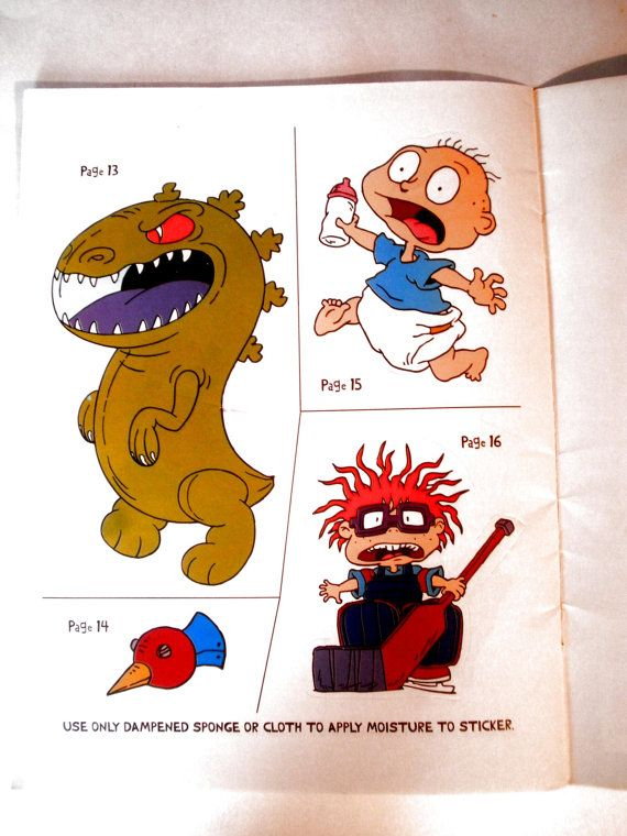 Vintage RugRats Sticker Book by homegallery4u on Etsy