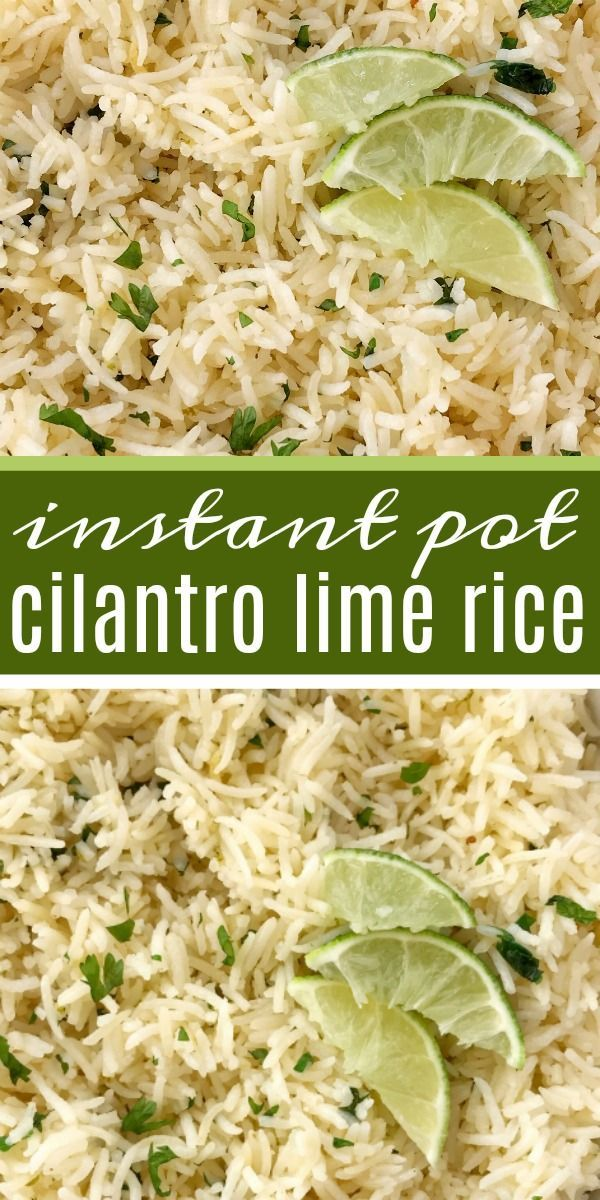 Instant Pot Cilantro Lime Rice | Cilantro Lime Rice Recipe | Side Dish | Instant Pot cilantro lime rice is so fluffy & full of lime and cilantro flavor, and is quick & easy Instant Pot recipe. Just a few simple ingredients and you have the perfect side dish to any meal. #mexicanfood #sidedishrecipes #sidedish #rice #glutenfreerecipes #glutenfree #recipeoftheday #easyrecipe #ricecookermeals