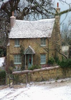 Village Home In Winter Dream Cottage English Cottage Holiday Home