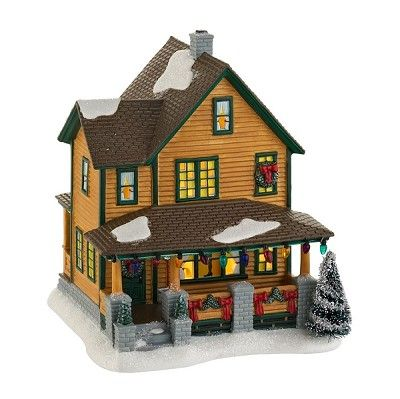 "Department 56 A Christmas Story Village 2012  RALPHIE'S HOUSE    Lit House  Size: 7.24""H x 6.5""W x 6.3""L  Materials: Plastic, Porcelain, Sisal  Introduction: January 2012    Your Price: $58.00"