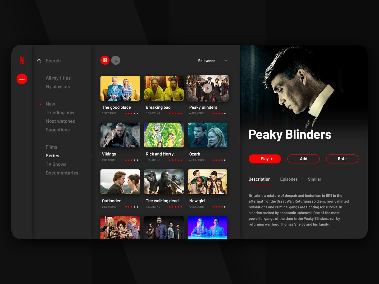Netflix Concept Netflix Concept Library Inspiration