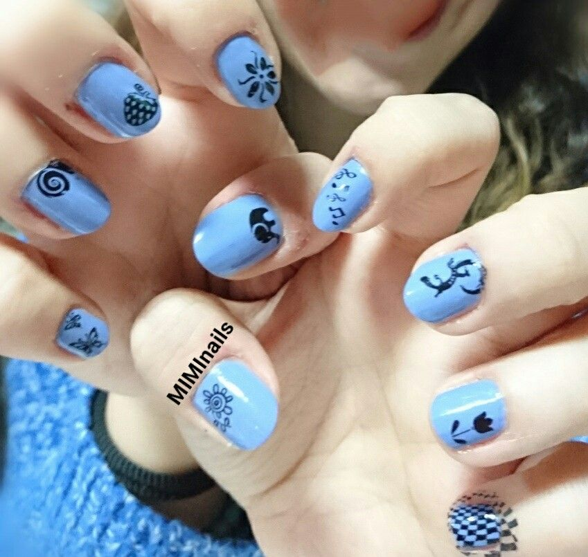 Uñas nails ungles decoradas design art stamping konad dibujos ...