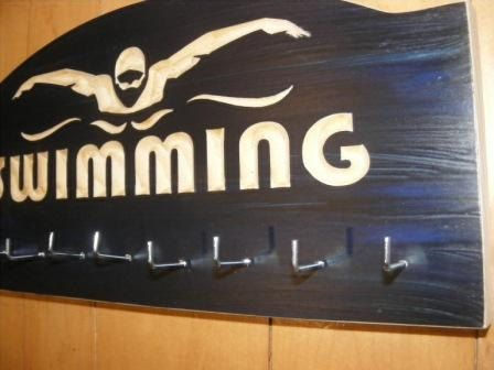 Personalized Swimming Medals Hanger Sports Medal Display Rack