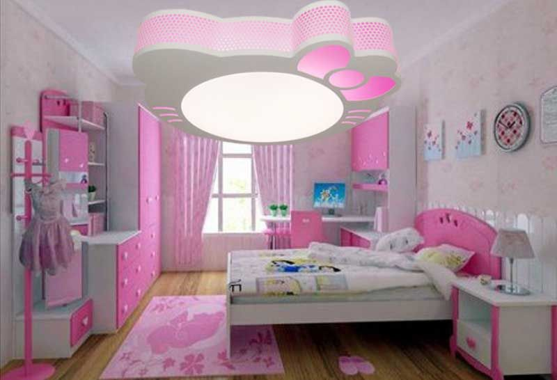 Plafonnier chambre fille installation avec id e papier for Decoration interieur design