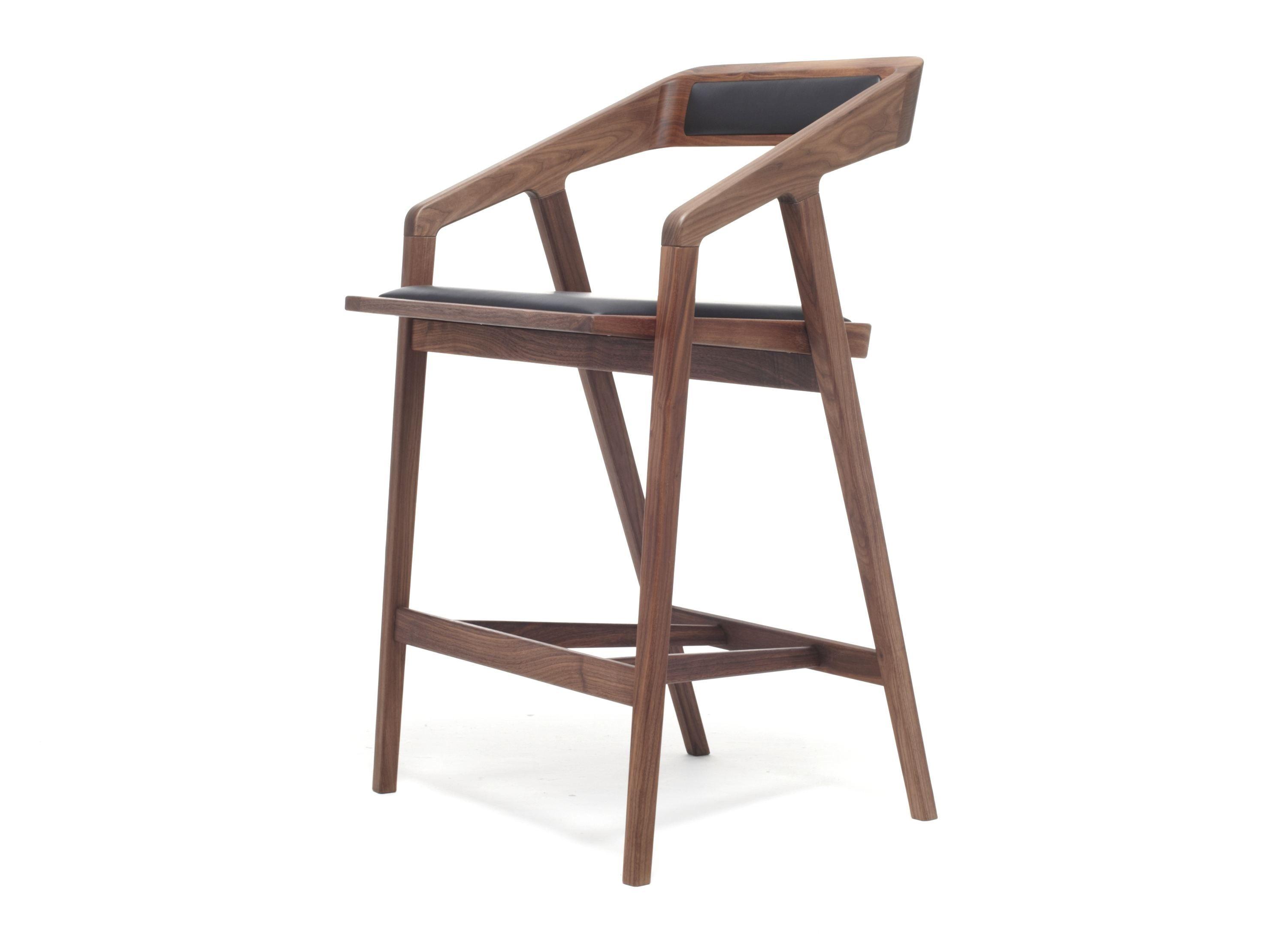 Design Wooden Barstool With Armrests Katakana Stool Dare