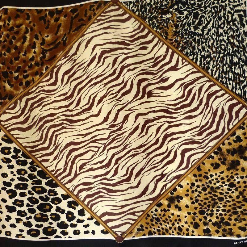 51eb170ba GERRY WEBER ORIGINAL VINTAGE DESIGNER SEIDENTUCH LEOPARDENORNAMENTIK Gerry  Weber, Animal Print Rug, Vintage Designs