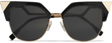 a1814af9493d Fendi - Iridia Cat-eye Gold-tone And Acetate Sunglasses - Black ...