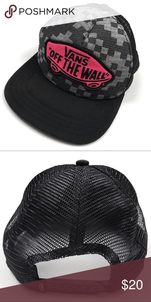 72497fa660f RARE Vans Beach Girl Truckers Hat W Pink Logo RARE Vans Beach Girl Truckers  Hat